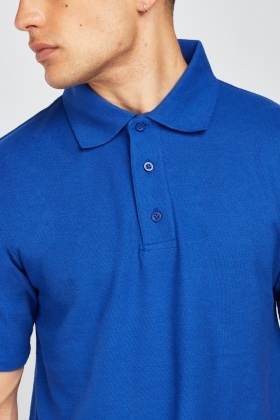 Pack Of 3 Royal Blue Polo Shirts