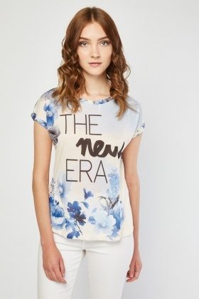 Watercolour Flower Print T-Shirt