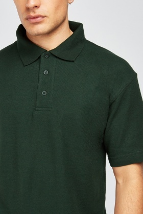 Pack Of 3 Forest Green Polo-Shirts