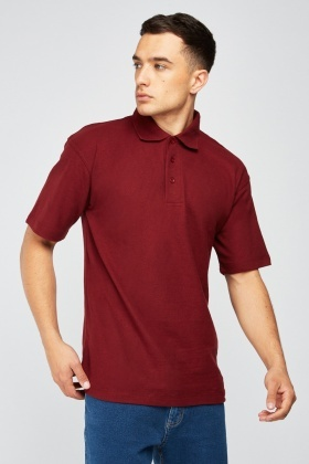 Pack Of 3 Maroon Polo-Shirts