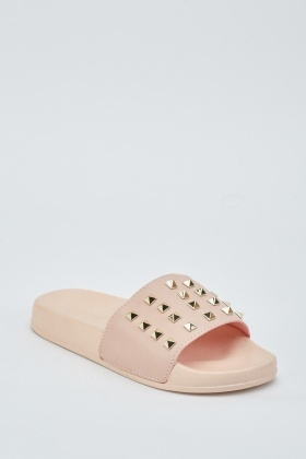 Studded Slip On Sliders