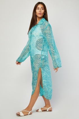 Sheer Speckled Cover Up