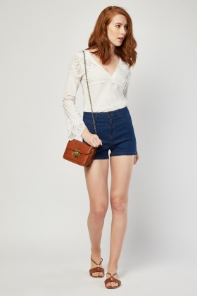 High Waisted Denim Shorts