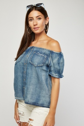 Light Denim Blue Top
