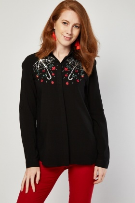 Embellished Umbrella Shirt