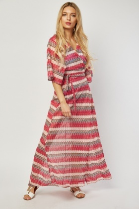 Spiral Crochet Maxi Beach Cover Up