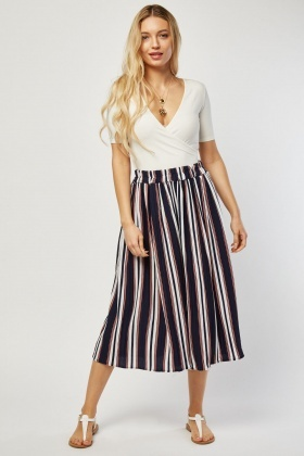 Wide Leg Crop Culotte Pants