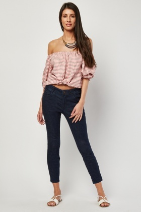 Push Up Ankle Skinny Jeans