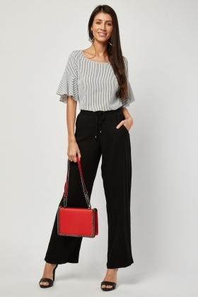 Straight Cut Black Trousers