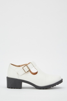 Buckle Strap Mary-Jane Heels