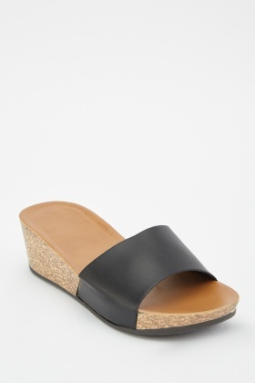 Cork Wedge Heel Sandals