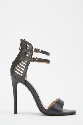 Cut Out Back Heeled Sandals