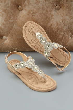 Encrusted Scallop Cut Sandals £5.00