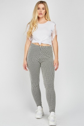 Illusion Textured Skinny Leggings
