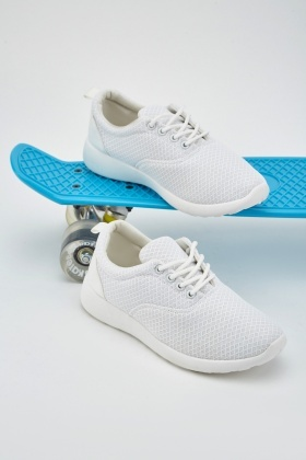 Perforated Low Top Trainers