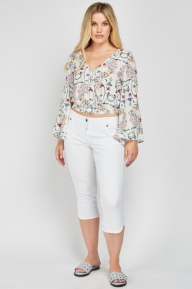 Capri White Denim Jeans