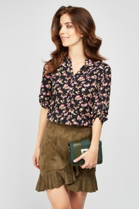 Repeat Flower Print Blouse