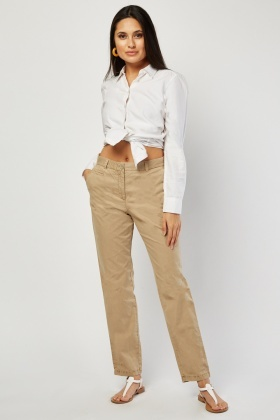 Straight Fit Basic Trousers £5.00