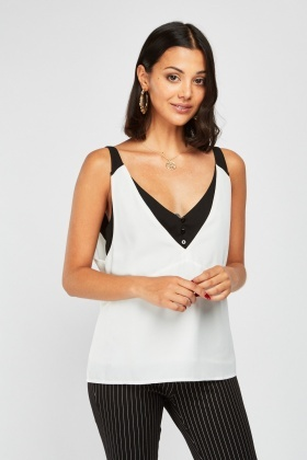 V-Neck Two Tone Cami Top £5.00