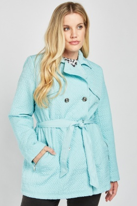 Zig Zag Quilted Trench Coat