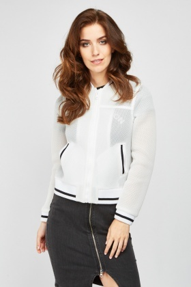 Zip Up Perforated Mesh Jacket