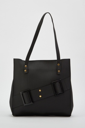 Buckle Pleated Textured Bag