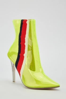 Transparent Pointy Toe Boots