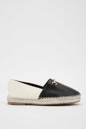 Two-Tone Contrast Espadrilles