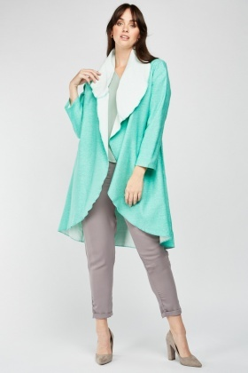 Speckled Waterfall Duster Coat