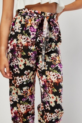 Vintage Flower Print Trousers