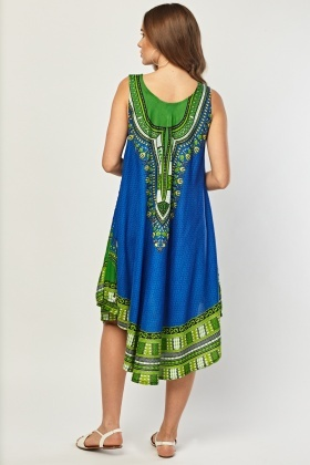 Tribal Print Tent Dress