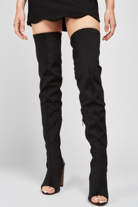 Over The Knee Scuba Boots