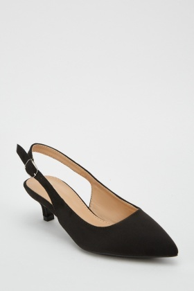 Slingback Kitten Heel Court Shoes