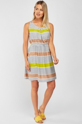 Colour Block Stripe Dress