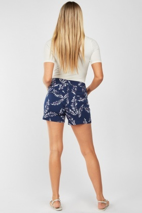 Feather Printed Shorts