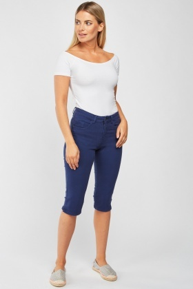 Indigo Skinny Crop Trousers