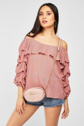Layered Stripe Sleeve Blouse