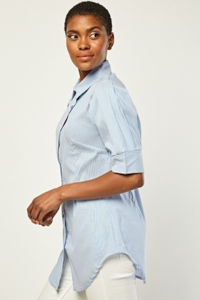 Pin Striped Fitted Shirt