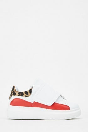 Animal Print Contrast Trainers