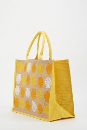 Sea Shell Printed Tote Bag