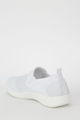 Textured Elasticated Trainers