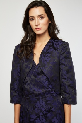 Flower Patterned Bolero
