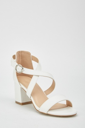 Block Heel Criss-Cross Sandals