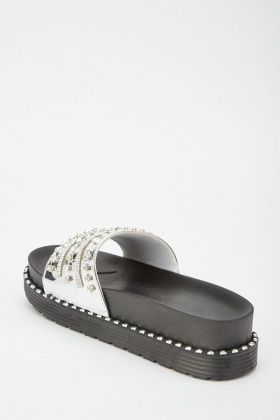 Metallic Encrusted Platformed Slides