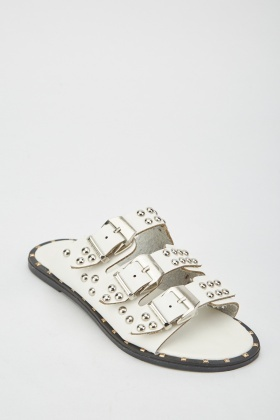 Studded Buckle Sliders