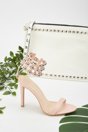 Studded Cut Out Ankle Sandals