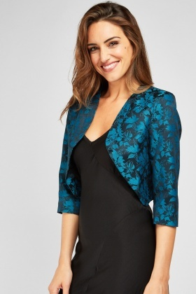 Orchid Patterned Bolero