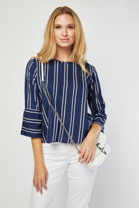 Vertical Stripe Cotton Top