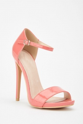 Lost Ink Blossom Stiletto Sandals Light Pink