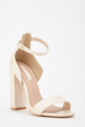 LOST INK Lexi Low Counter Block Heel Sandal